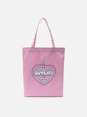 DAYLIFE DAYLIFE♥ESTHER BUNNY BIG HEART ECO BAG (PINK)