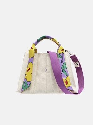 JOSEPH&STACEYLucky Pleats Canvas Flower S Ivory_Violet