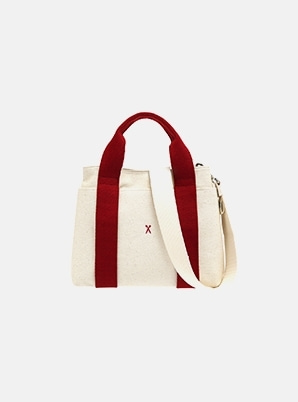 JOSEPH&STACEYStacey Daytrip Tote Canvas S Ivory_Red
