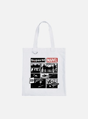 SuperM CARTOON ECO BAG - SuperM x MARVEL
