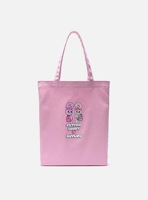 DAYLIFE DAYLIFE♥ESTHER BUNNY TWIN BUNNY ECO BAG (PINK)