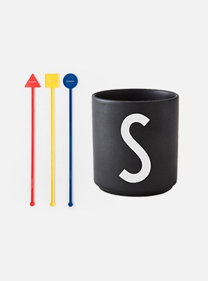 Home Cafe SHINee MUDDLER + DESIGN LETTERS CUP SET
