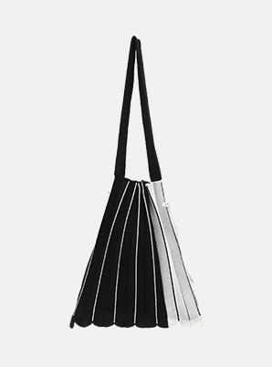 JOSEPH&STACEYLucky Pleats Knit SOC M Line Black