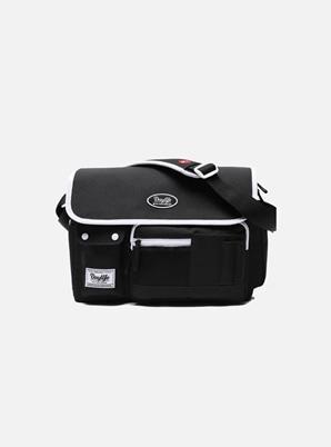 DAYLIFE POST CROSS BAG (BLACK/WHITE)