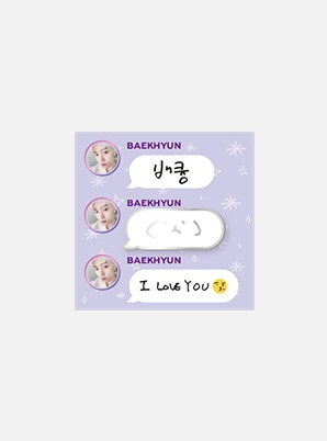 BAEKHYUN Beyond LIVE - BAEKHYUN : LIGHT BADGE (HAND DRAWN EMOTICON ver.)