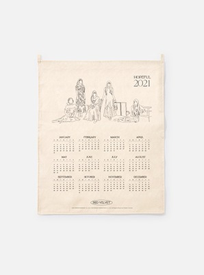 Red Velvet  2021 Canvas Drawing Calendar
