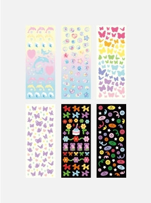 SECONDMANSIONHOLOGRAM CONFETTI REMOEVR SEAL STICKER [25~30]