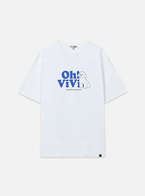 SEHUN SPAOFRIEN:DS X Oh! ViVi - T-SHIRT (GRAPHIC WHITE)