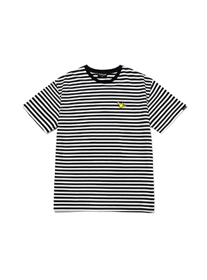 MARK GONZALES ANGEL STRIPE T-SHIRTS BALCK