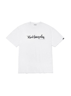 MARK GONZALES SIGN LOGO T-SHIRTS WHITE