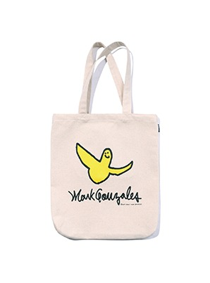 MARK GONZALES ANGEL LOGO ECO BAG IVORY