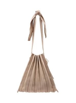 JOSEPH&STACEY Lucky Pleats Knit M Half & Half Beige
