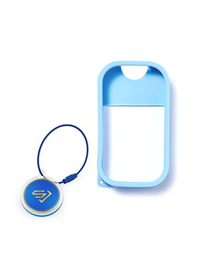 TOUCH LAND POWER MIST SHIELD_BLUE + ARTIST TOUCH KEYRING