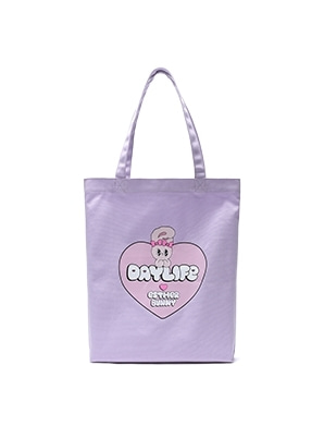 DAYLIFE DAYLIFE♥ESTHER BUNNY BIG HEART ECO BAG (PURPLE)