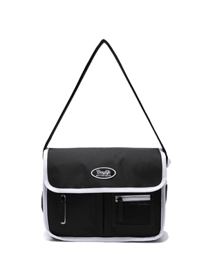 DAYLIFE MAIL MESSENGER BAG (BLACK/WHITE)