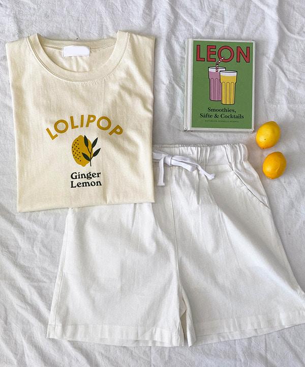 (선오픈할인)레몬롤리팝반팔티