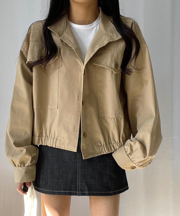 피노 루즈핏 숏야상 자켓