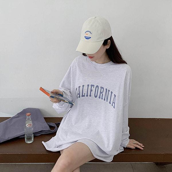 캘리포니아 긴팔 원피스 티셔츠