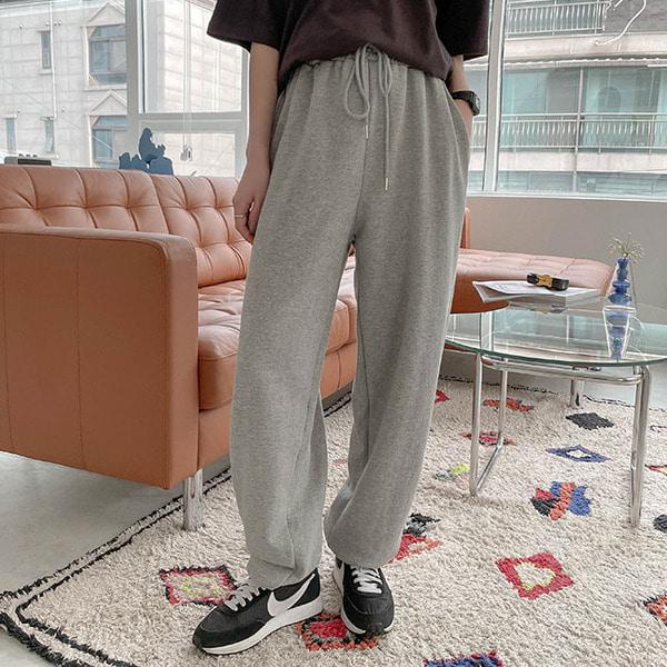 솔라 와이드핏 허리밴딩 조거 팬츠