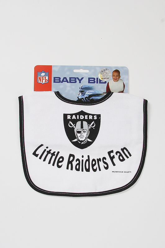 NFL Raiders Baby Bib White