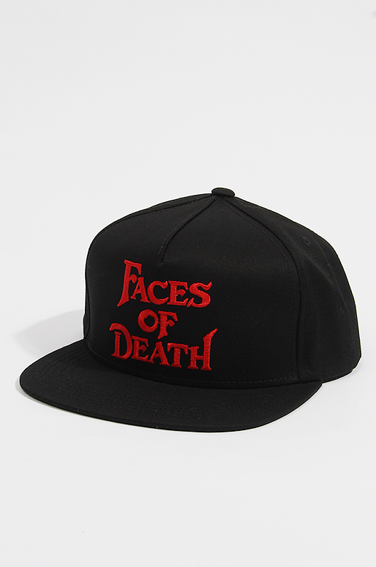 THE DECADES HAT  Face of Deasth Snap Black