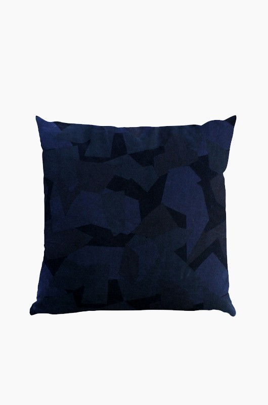 SEPTEMBER ROOM Camouflage Cushion Blue