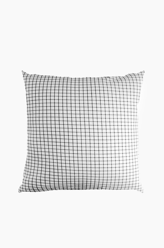 SEPTEMBER ROOM Grey Check Cushion