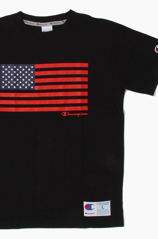 CHAMPION (JAPAN) US Flag S/S(C3-F303) Black