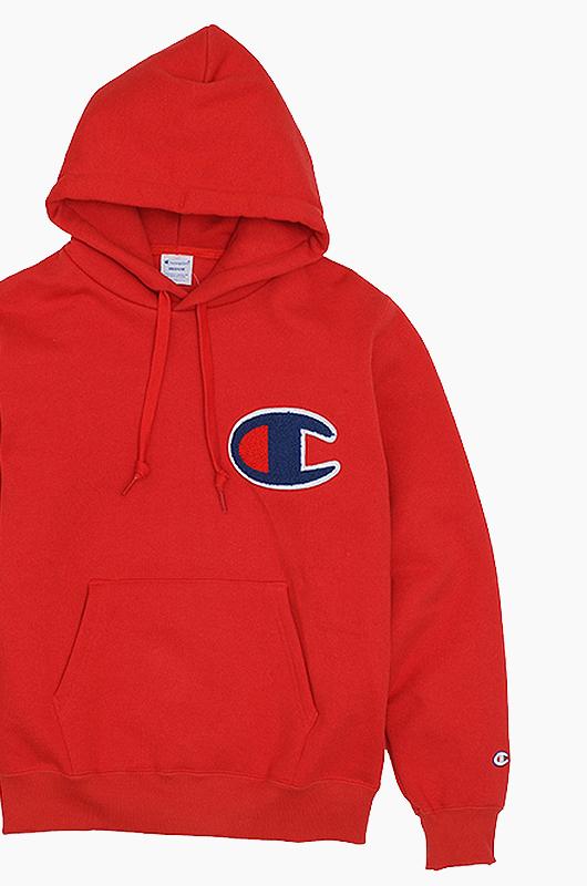 CHAMPION (JAPAN) Big Logo Hoodie(C3-E127) Red