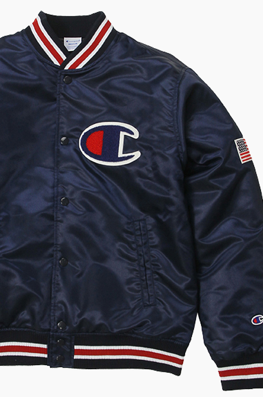 CHAMPION (JAPAN) Baseball Jacket(C3-G612) Navy