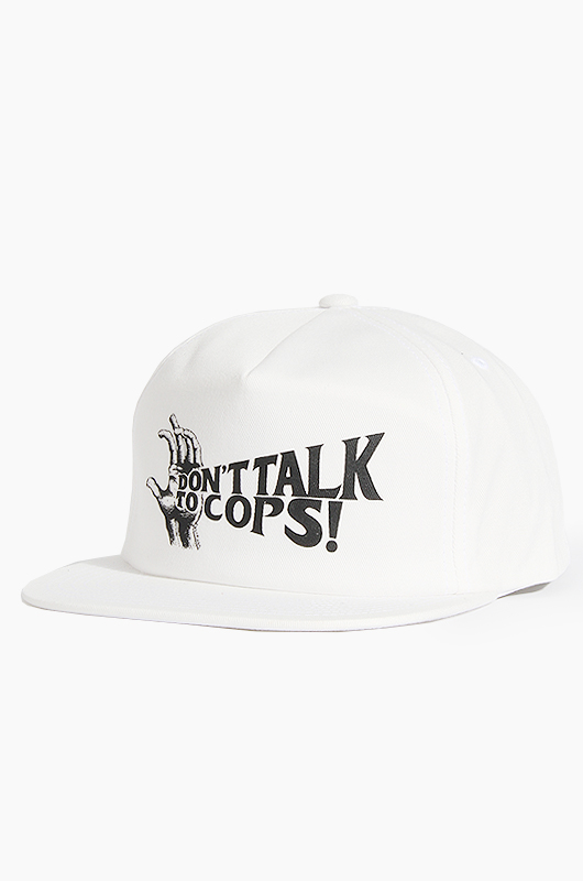 OBEY Silence Snapback White