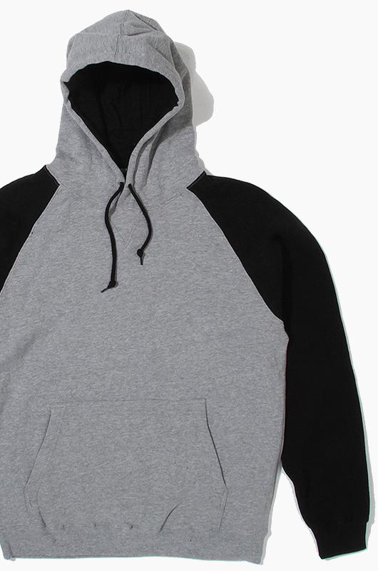 BEIMAR Raglan Hood Grey/Black