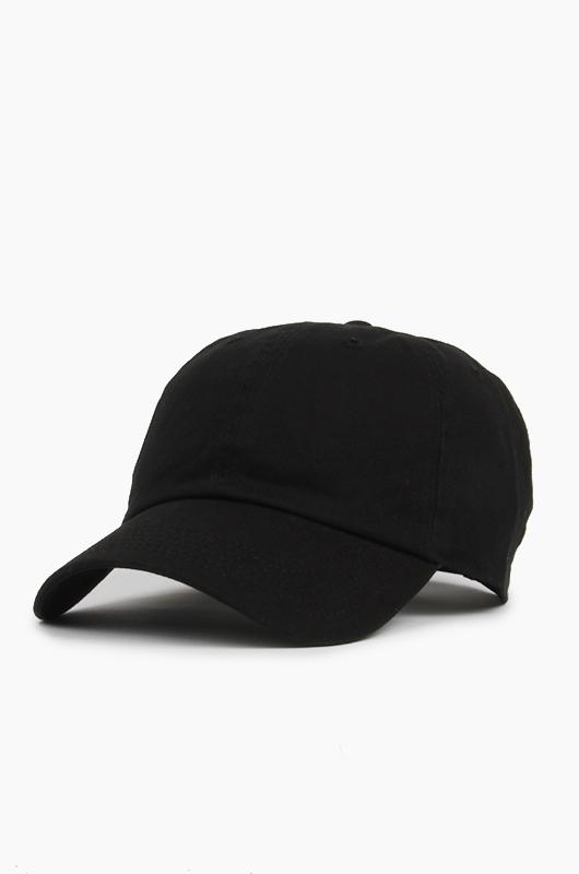 NEWHATTAN Cotton Ballcap Black