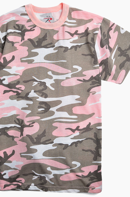 ROTHCO Short Sleeve T Pink Subdued Pink Camo