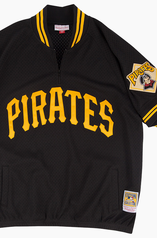 M&N Mesh 1/4 Zip Jersey Pirates