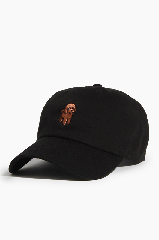 WARF Cotton Ballcap Poodle Black