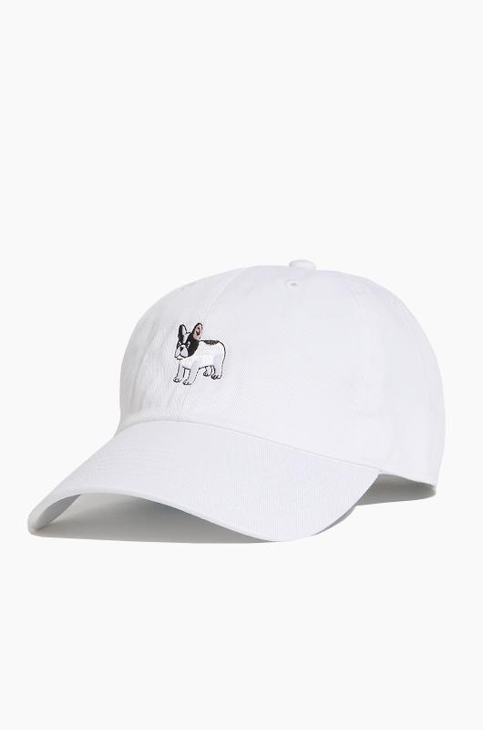 WARF Cotton Ballcap Boston Terrier White