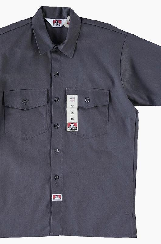 BENDAVIS Short Sleeve Button Up Charcoal