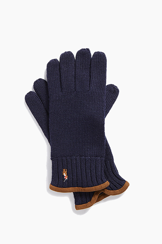 POLO Classic Lux Merino Glove Navy Heather