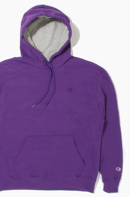 CHAMPION Powerblend Fleece Hoodie Purple