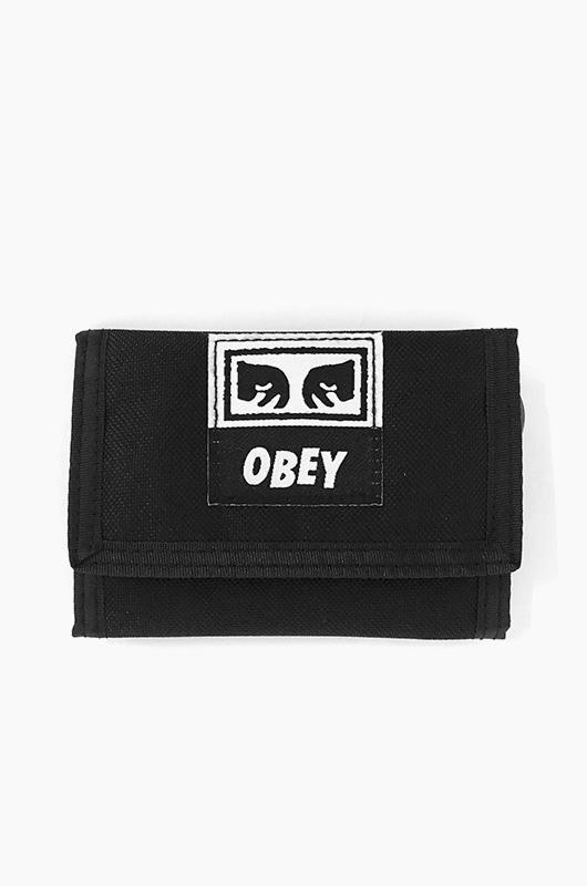 OBEY Drop Out Tri Fold Wallet Black