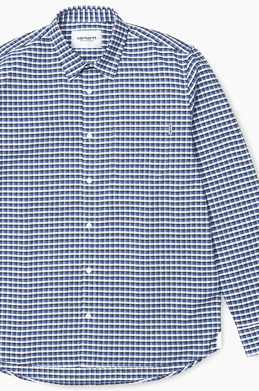 CARHARTT-WIP Lemming Shirt l/s L.Check/Blue Iris