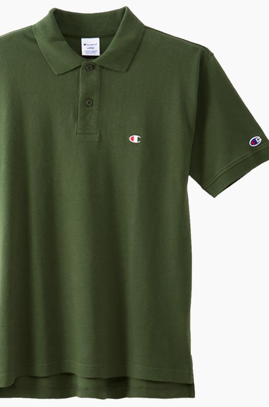 CHAMPION (JAPAN) Polo Shirt (C3-F356) Olive