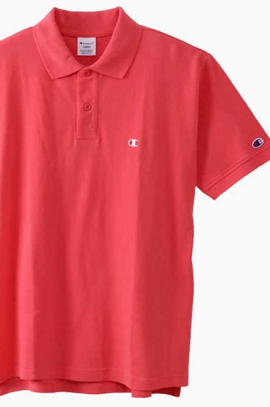 CHAMPION (JAPAN) Polo Shirt (C3-F356) Hot Pink