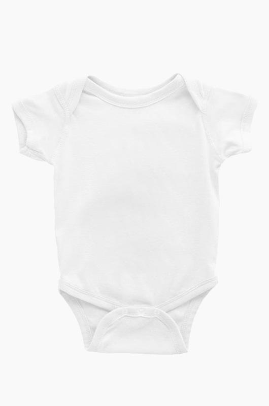 RABBIT SKINS Infant S/S Bodysuit White