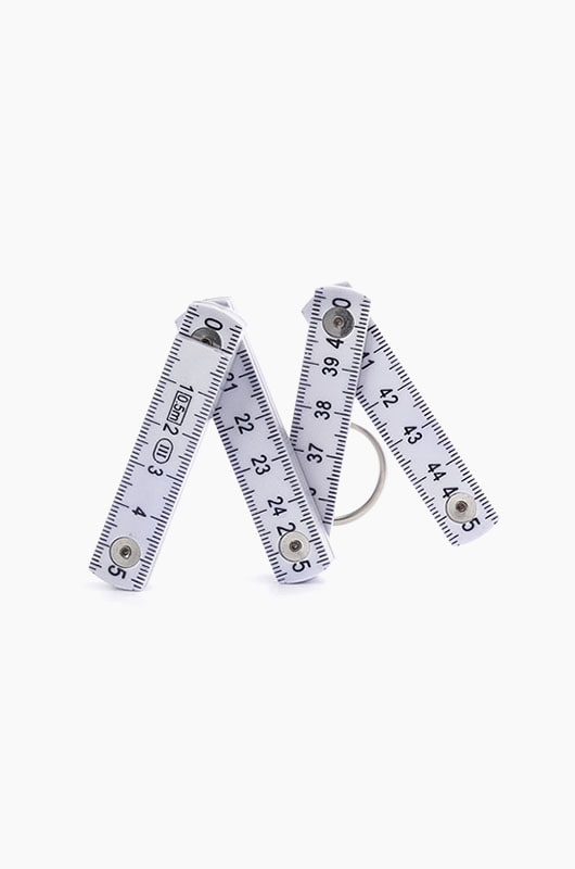 KIKKERLAND Folding Ruler Keychain Grey
