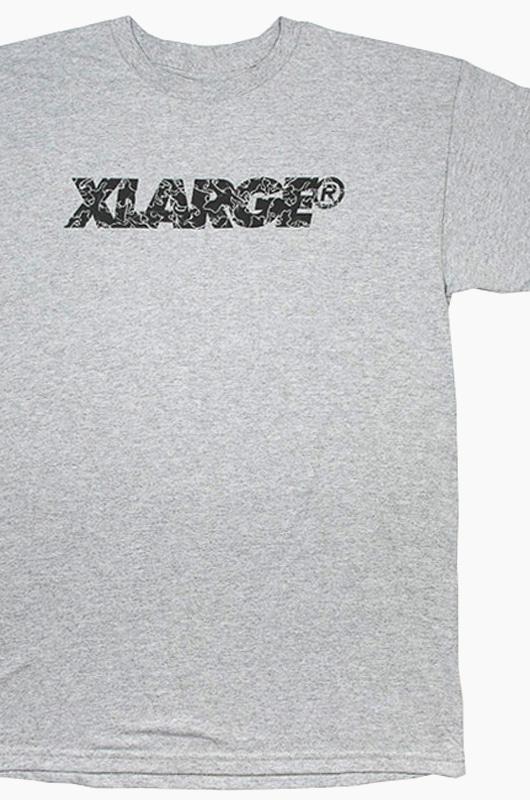 XLARGE Leaves Slanted Type S/S Grey
