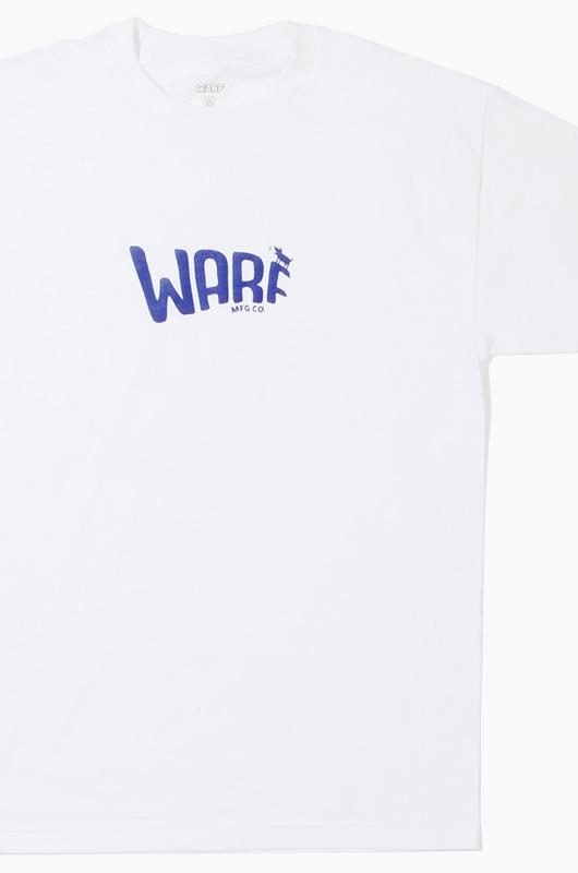 WARF Mfg Logo S/S White/Blue