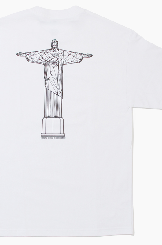 COOLRAIN Christ the Redeemer S/S White