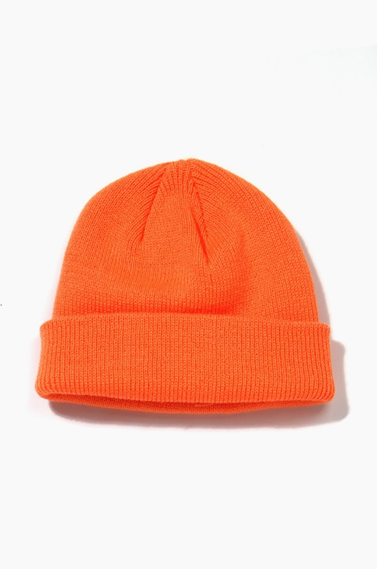 Plain Beanie Standard Neon Orange